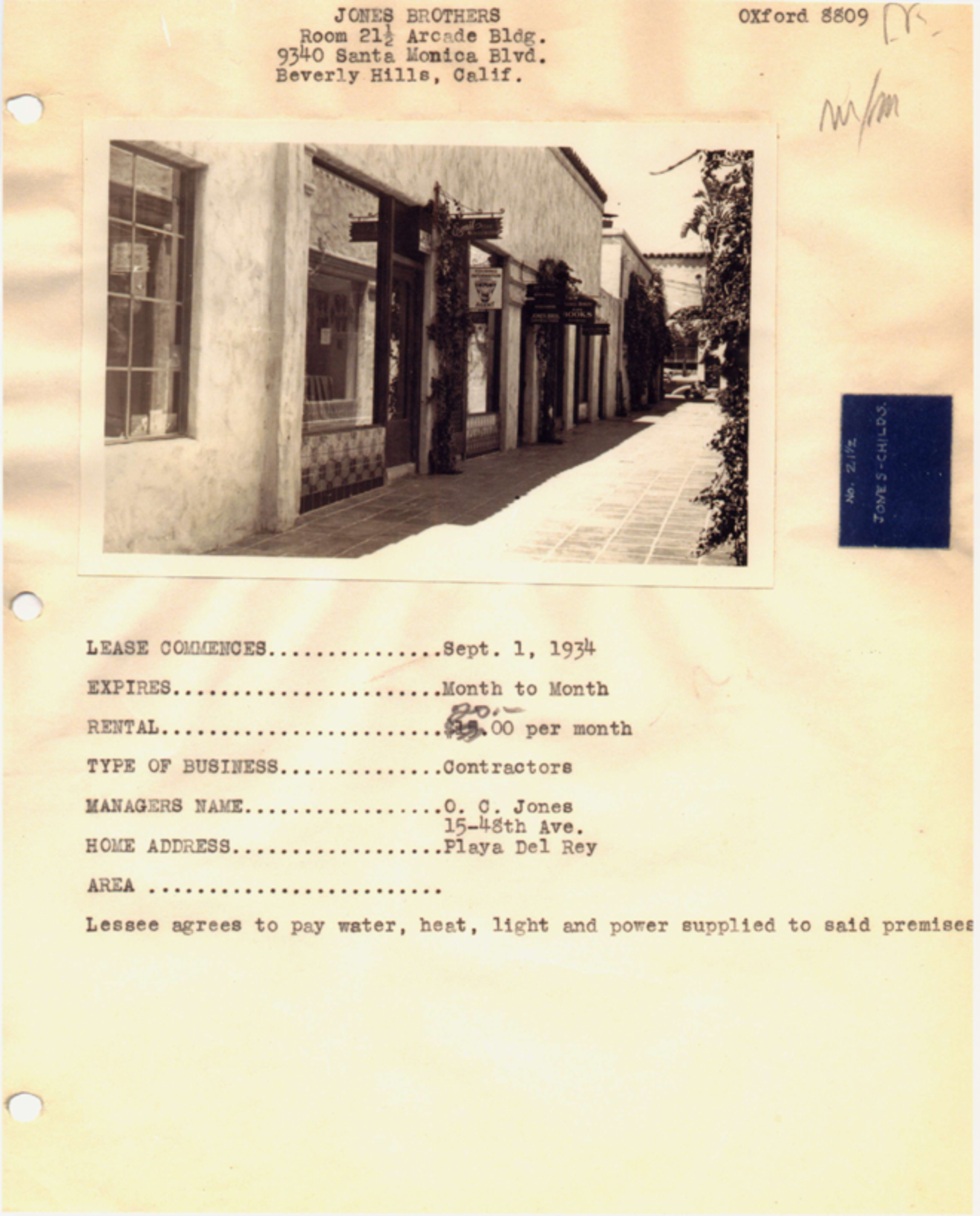 Jones Brothers Office Lease