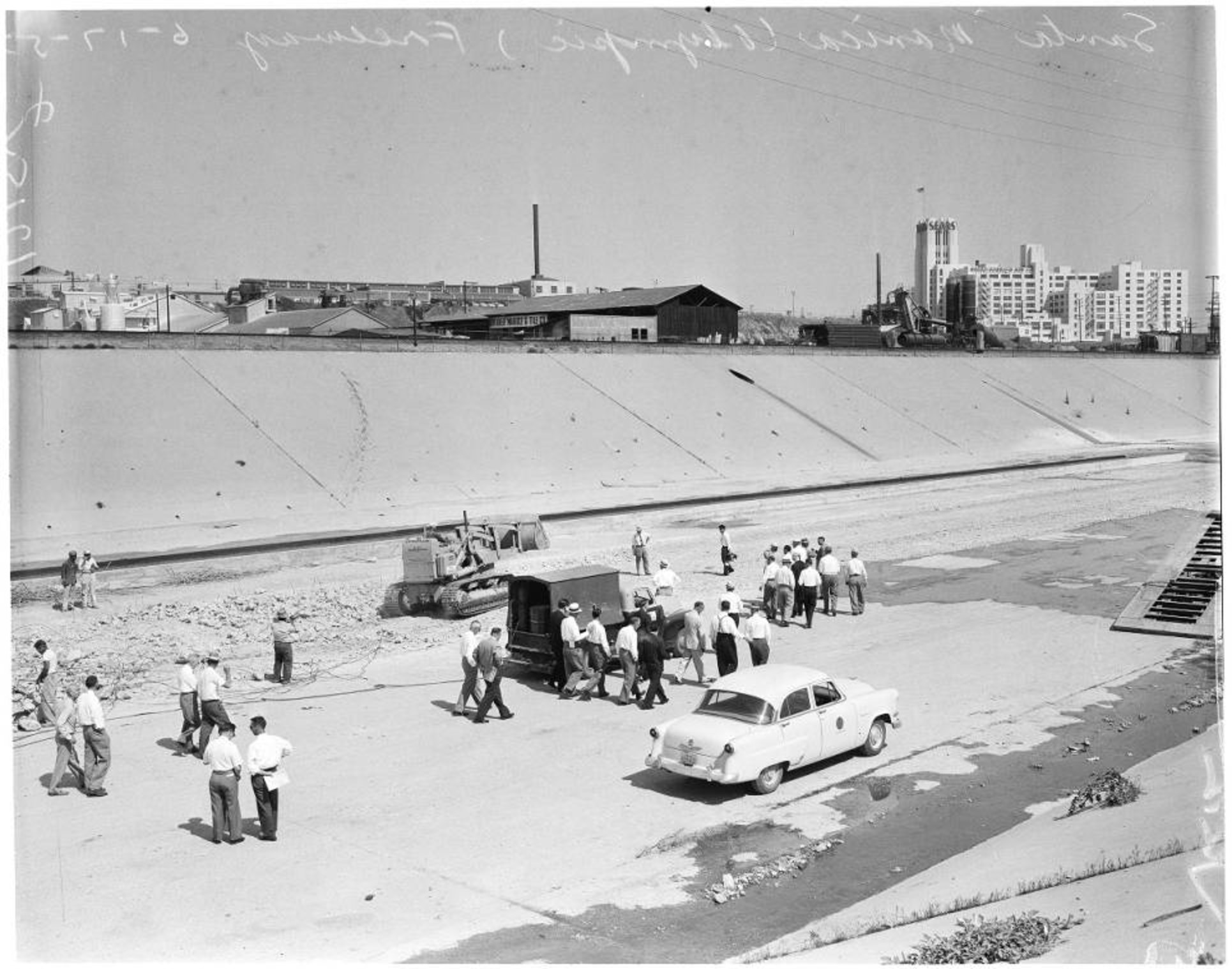 Olympic Santa Monica Freeway Groundbreaking 1957