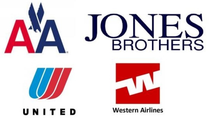 United Airlines Old Logo With Jones Bros