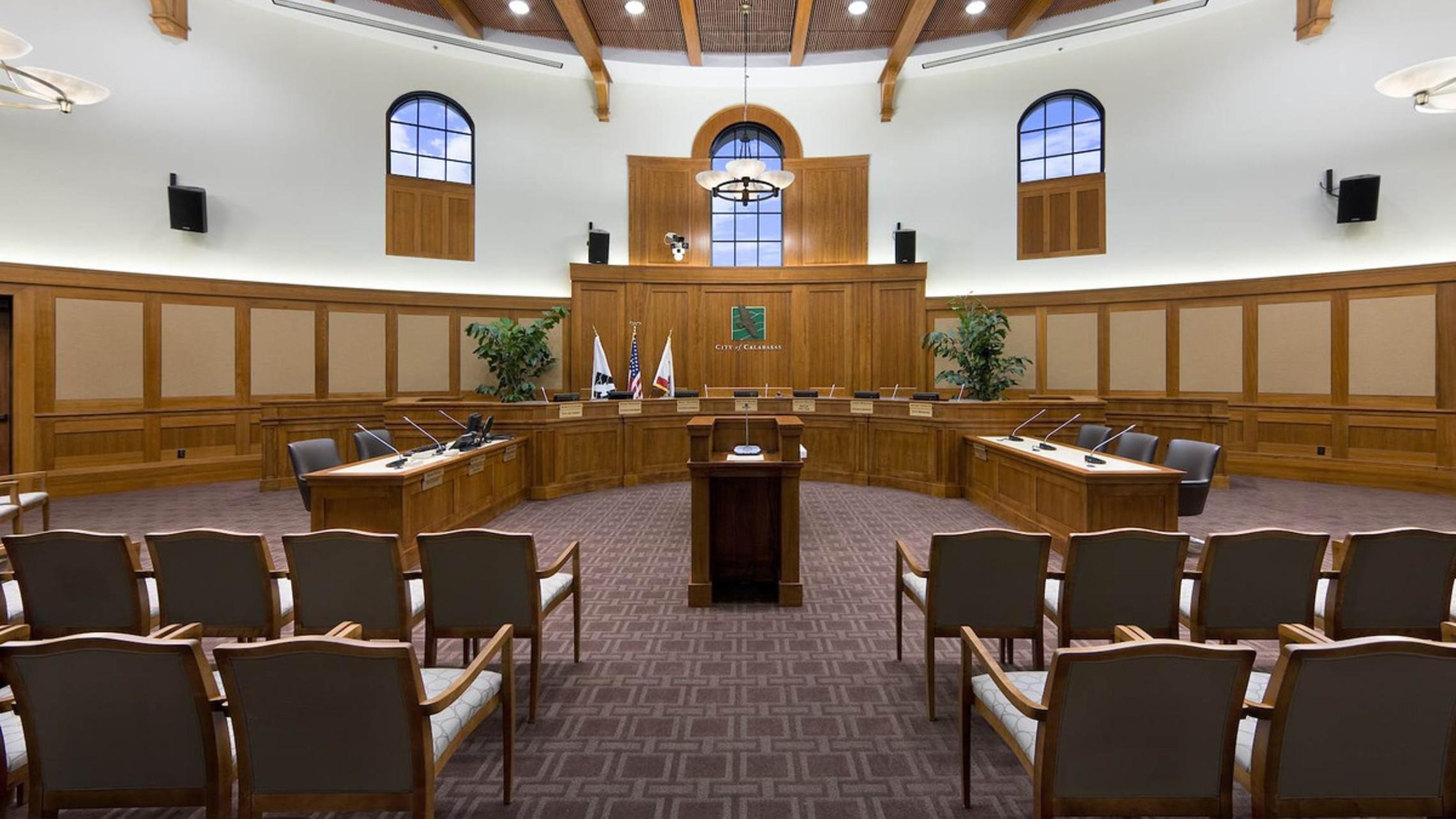 Calabasas Civic   Council Chambers